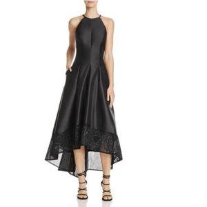 Carmen Mark Valvo Mikado High Low Halter Dress NWT